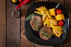 Tender and juicy veal steak Royalty Free Stock Photo
