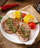 Tender and juicy veal steak Stock Photography