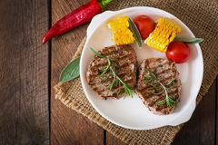 Tender and juicy veal steak Royalty Free Stock Photography