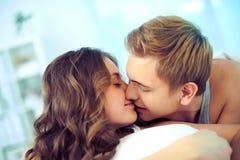 Tender kiss Stock Photo