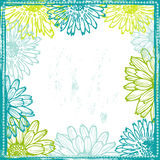 Tender lace floral frame Royalty Free Stock Photo