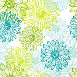 Tender lace floral seamless pattern Stock Photos