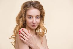 Tender lady with perfect skin Stock Photography