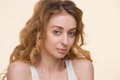 Tender lady with perfect skin Royalty Free Stock Photos