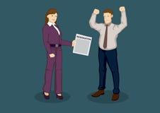 Tender Letter of Resignation Cartoon Vector Illustration Royalty Free Stock Image