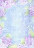 Tender light background composition with delicate lilac flower. Grunge background. Can be used for greeting card, invitation for wedding and other holiday stock illustration