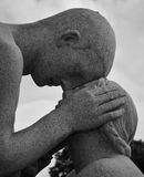 Tender look - The Vigeland Park, Oslo Royalty Free Stock Photos