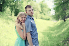 Tender loving couple royalty free stock photos
