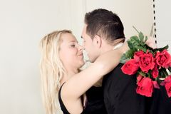 Tender moment of love Stock Images
