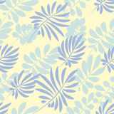 Tender pale blue and green tropical leaves Royalty Free Stock Photography