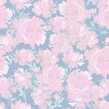 Tender peony seamless pattern Royalty Free Stock Images