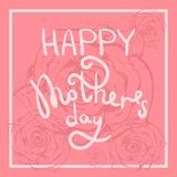 Tender pink happy mothers day greeting card vector illustration