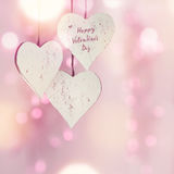 Tender pink hearts for Valentines Day Stock Photos