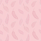 Tender pink pattern. Seamless pattern with pink leaves Stock Photo
