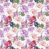 Tender pink roses. Floral botanical flower.Seamless background pattern. Tender pink roses. Floral botanical flower. Seamless background pattern. Fabric stock illustration