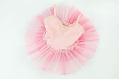 Tender pink tutu for baby on white Stock Photography