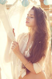 Tender portrait of beautiful young girl Royalty Free Stock Images