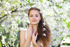 Tender portrait of a young cute girl Royalty Free Stock Photography