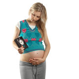 Tender pregnant female Stock Photo
