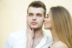 Tender romantic couple Royalty Free Stock Image