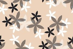 Tender rosy beige floral seamless pattern. Royalty Free Stock Images