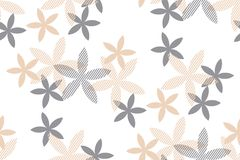 Tender rosy beige floral seamless pattern Stock Photo