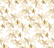 Tender rosy beige floral seamless pattern Stock Photography