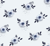 Tender seamless pattern with flowers anemones. Stock Photography