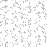 Tender seamless pattern. Tracery of twisted stalks with decorati Royalty Free Stock Photography