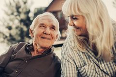 Cute mature couple having time with each other Royalty Free Stock Image
