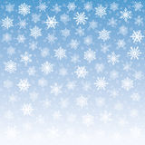 Tender Snowflakes Background Stock Images