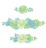 Tender spring roses vector illustration. Royalty Free Stock Images