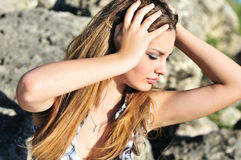 Tender teen girl royalty free stock images