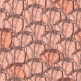 Tender tulip seamless pattern. Vector flower background Stock Images