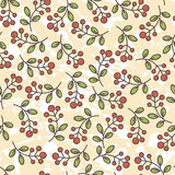Tender twigs  seamless patterns collection Stock Photos