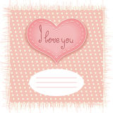 Tender Valentines day card Royalty Free Stock Images