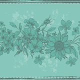 Tender vintage floral seamless border Stock Photos