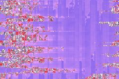 Tender violet mosaic kaleidoscope banner with abstract pink sakura stock illustration