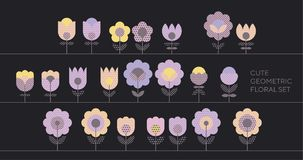 Tender violet spring color floral abstract motif Royalty Free Stock Images