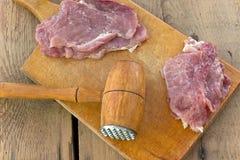 Tenderize cegiełki mięso Fotografia Royalty Free