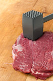 Tenderize meat slice Stock Images