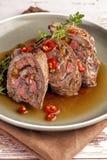 Tenderloin βόειου κρέατος που γεμίζονται ρόλοι στοκ φωτογραφία με δικαίωμα ελεύθερης χρήσης