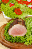 Tenderloin χοιρινού κρέατος, μενταγιόν χοιρινού κρέατος, που ψήνονται στη σχάρα, χοιρινό κρέας, κρέας, μπέϊκον Στοκ Εικόνες