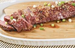 Tenderloin χοιρινού κρέατος σουσαμιού Στοκ φωτογραφία με δικαίωμα ελεύθερης χρήσης