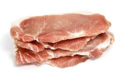Tenderloin. Some slices of tenderloin isolated on a white background Stock Image