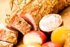 Tenderloin de carne de porco cortado imagens de stock royalty free