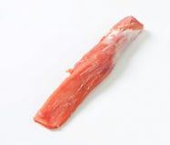 Tenderloin de carne de porco cru Fotografia de Stock