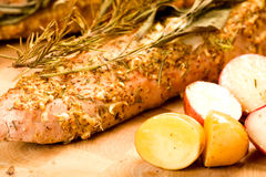 Tenderloin de carne de porco inteiro Fotos de Stock Royalty Free