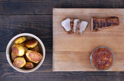 Tenderloin de carne de porco Roasted Fotografia de Stock Royalty Free