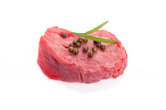 Tenderloin With Green Pepper Stock Image
